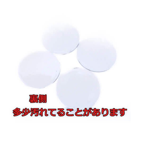 サッカーボールフェイス柄の可愛いミニラバーコースター【画像2】