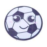 サッカー 景品向け サッカーボールフェイス柄の可愛いミニラバーコースター