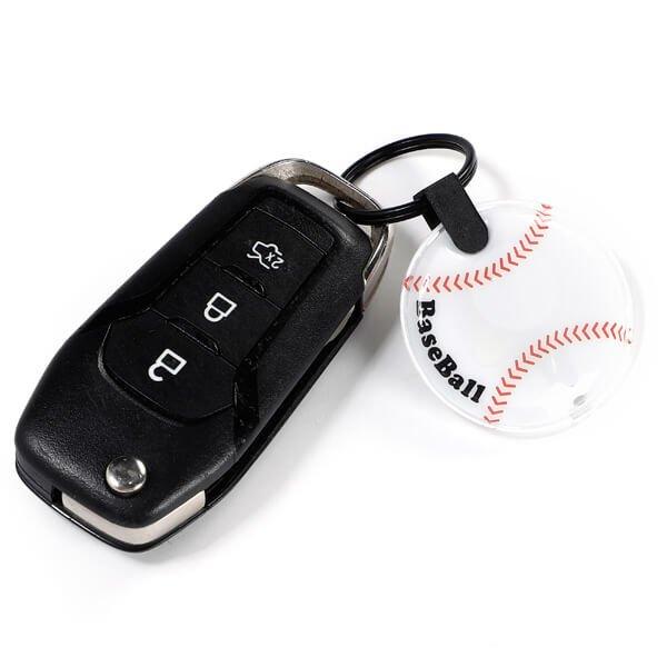 野球ボール型のフラットライトキーホルダー 単価184円〜【画像3】