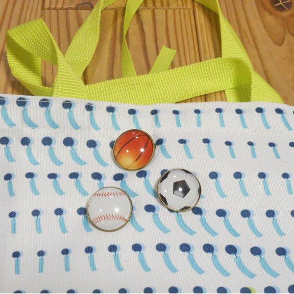 野球ボールのクリスタルフラットピンバッチ 1個【画像3】