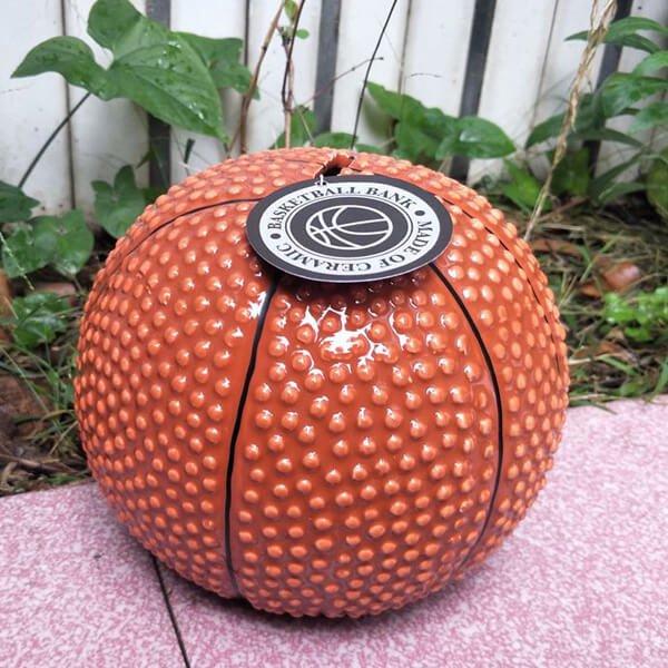 (新型)バスケットボール型のインテリア貯金箱