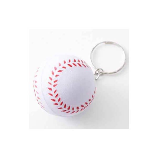 アウトレット やわらかキーホルダー 野球ボール(大)