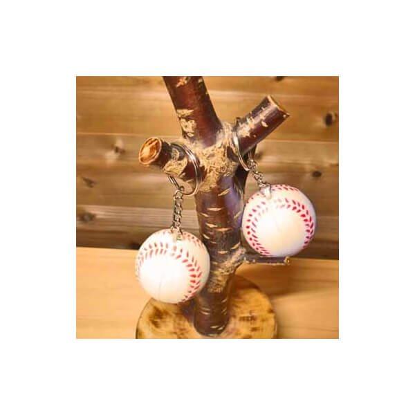 アウトレット やわらかキーホルダー 野球ボール(大)【画像2】