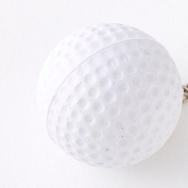アウトレット  やわらかいゴルフボールキーホルダー【画像2】