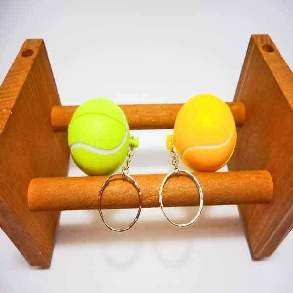 アウトレット   やわらかいテニスボールキーホルダー(大)