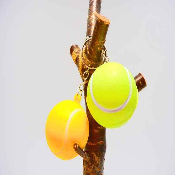 アウトレット   やわらかいテニスボールキーホルダー(大)【画像2】