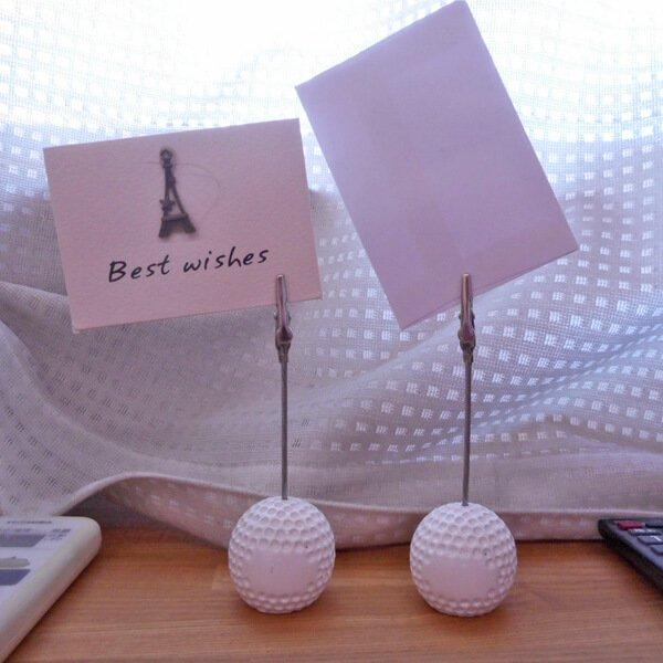 大きいゴルフボールのメモクリップボード 1個 (初期キズ等あり)