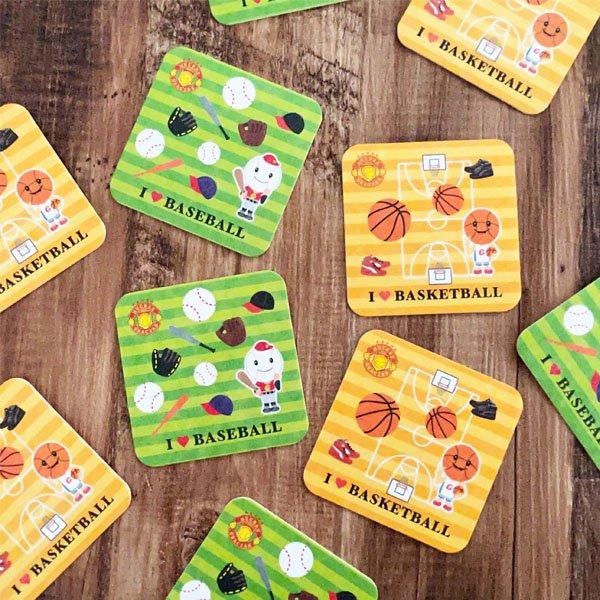 セット購入がお得 バスケットボール柄のオリジナル厚紙コースター 1枚単価18円〜【画像7】