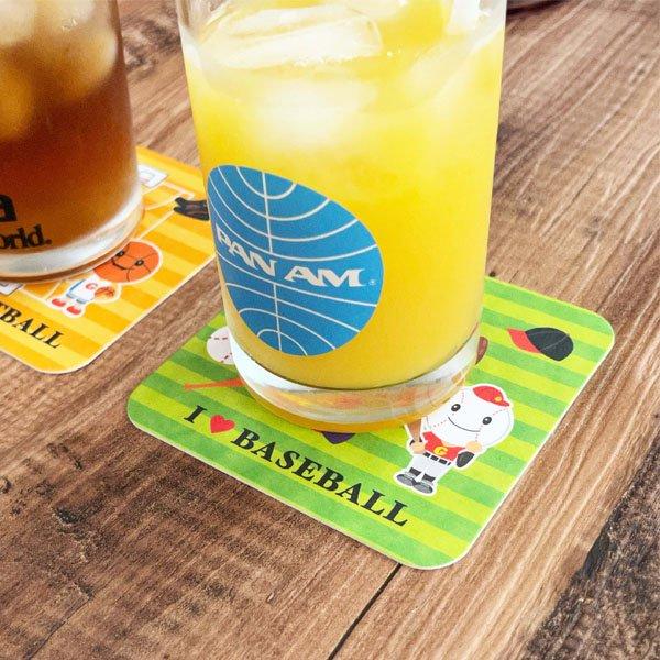 セット購入がお得 野球ボール柄のオリジナル厚紙コースター 5枚セット〜【画像6】