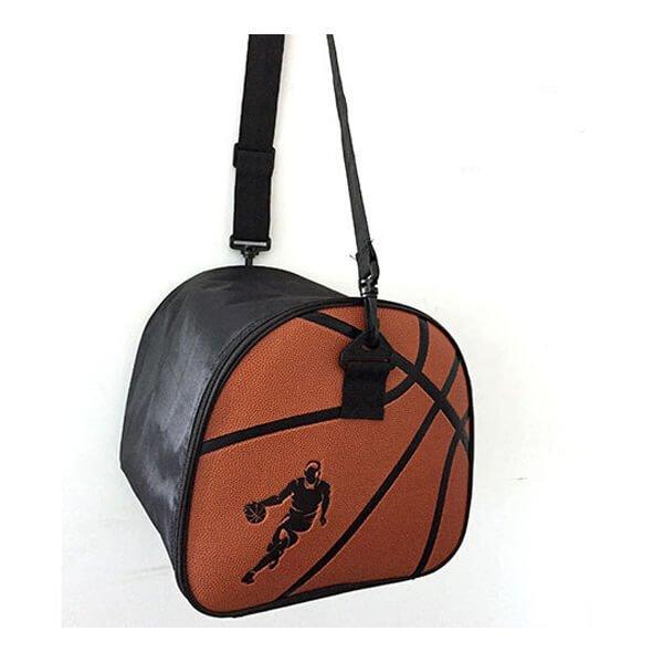 クールなバスケットボール柄ボールバッグ