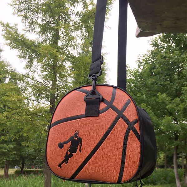 クールなバスケットボール柄ボールバッグ(内部初期汚れのため割引)【画像3】