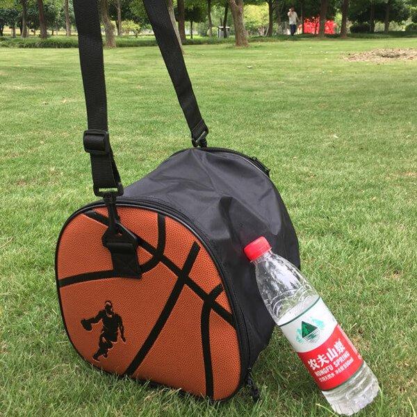 クールなバスケットボール柄ボールバッグ(内部初期汚れのため割引)【画像4】