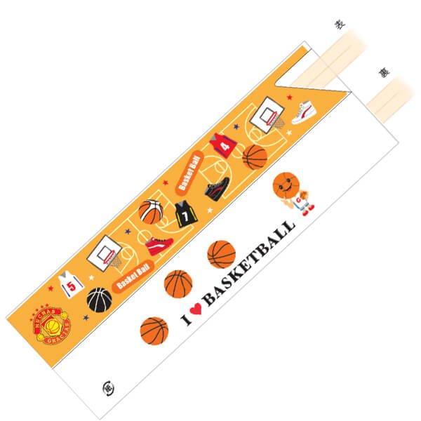 オリジナルバスケットボール柄 割り箸袋5枚セット (割り箸別売)【画像3】