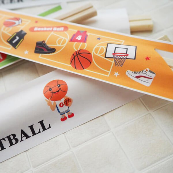 オリジナルバスケットボール柄 割り箸袋5枚セット (割り箸別売)【画像4】