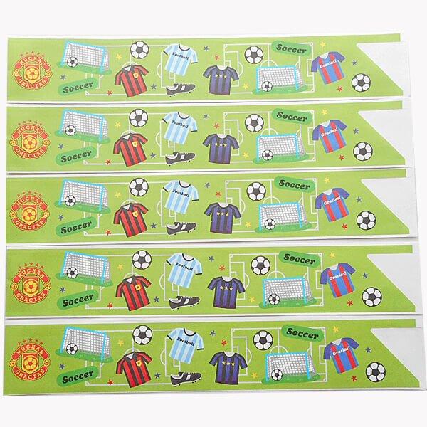 オリジナルサッカー柄 割り箸袋5枚セット (割り箸別売)【画像2】