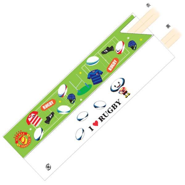 オリジナルラグビー柄 割り箸袋5枚セット (割り箸別売)【画像2】