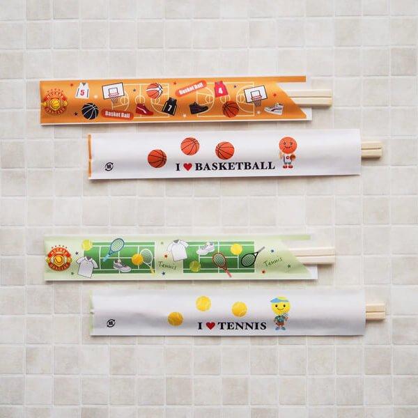 オリジナルテニス柄 割り箸袋5枚セット (割り箸別売)【画像3】