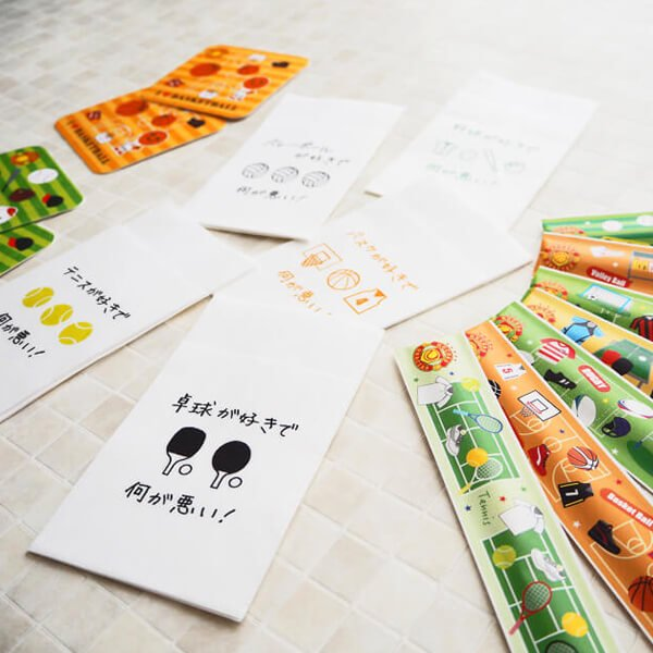 オリジナルテニス柄 6つ折りナプキン セットがお得 単価7円〜【画像2】
