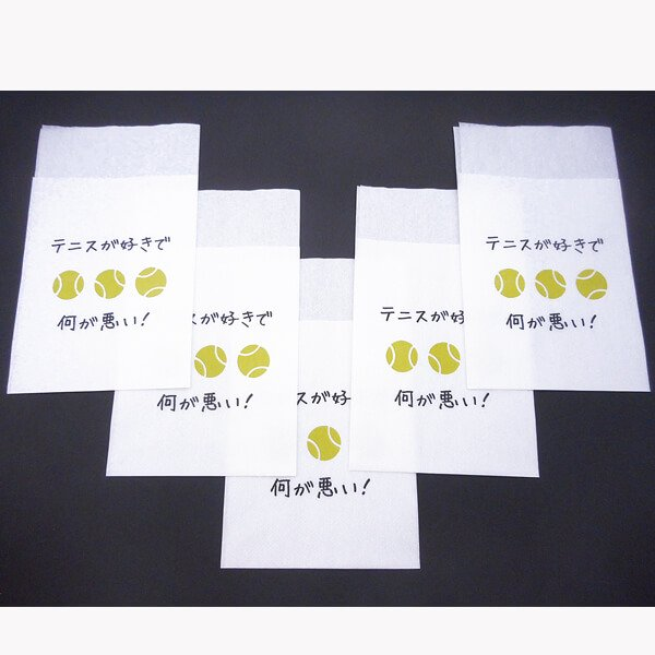 オリジナルテニス柄 6つ折りナプキン セットがお得 単価7円〜【画像5】