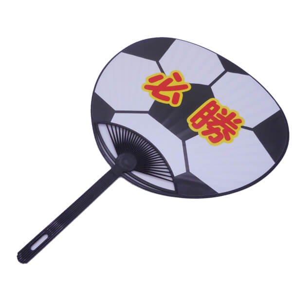 セットがお得! サッカーボール型のオリジナル応援うちわ  単価146円〜【画像4】
