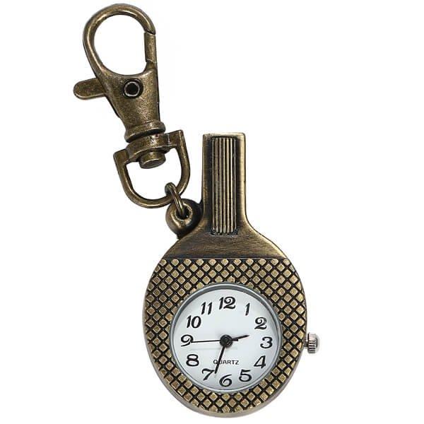 卓球ラケット型のレトロ懐中時計