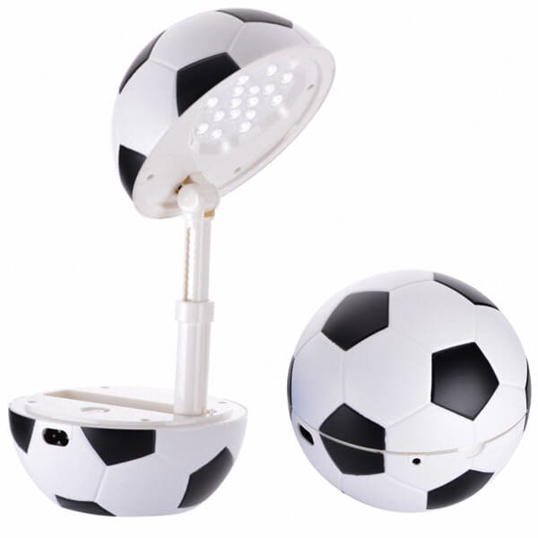 存在感抜群のサッカーボールランプ(コンセント使用タイプ)