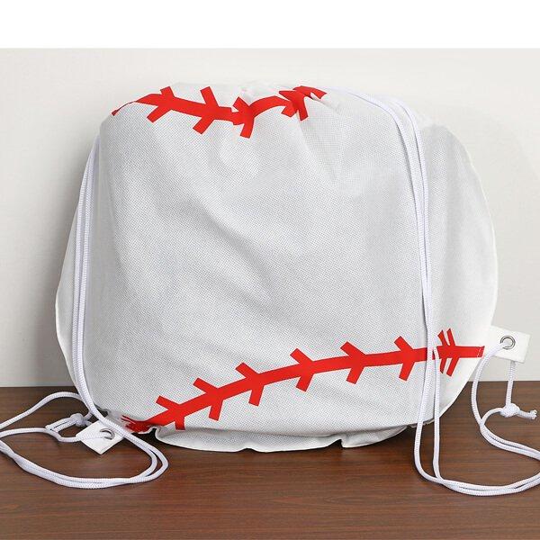 野球ボール型のオリジナル巾着袋【画像2】