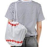 野球ボール型のオリジナル巾着袋