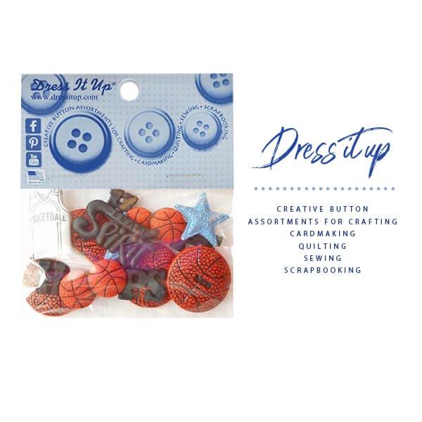 バスケットボールボタンセット Ver2 (バスケットボール・ユニフォーム・文字・星等)