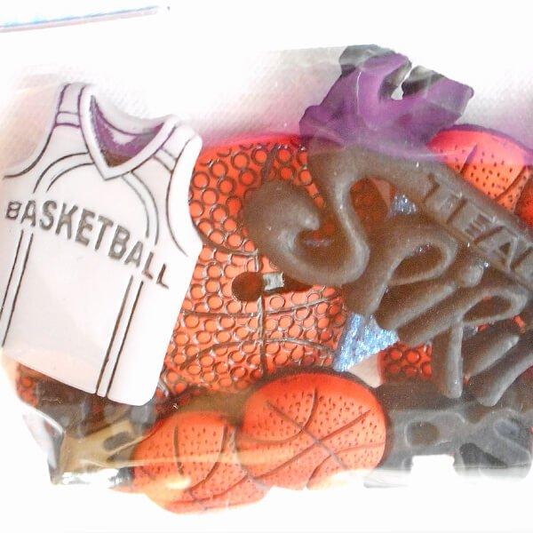バスケットボールボタンセット Ver2 (バスケットボール・ユニフォーム・文字・星等)【画像3】