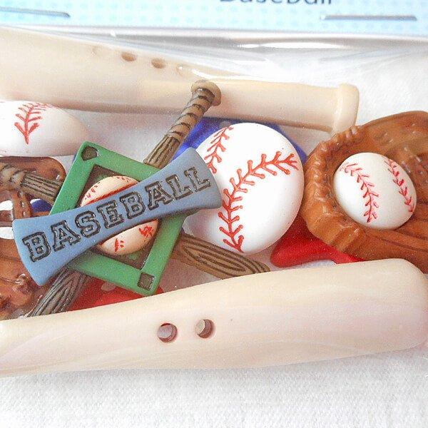 野球のクラフトボタンセット Ver1 (ボール・グローブ・バット・星)【画像3】