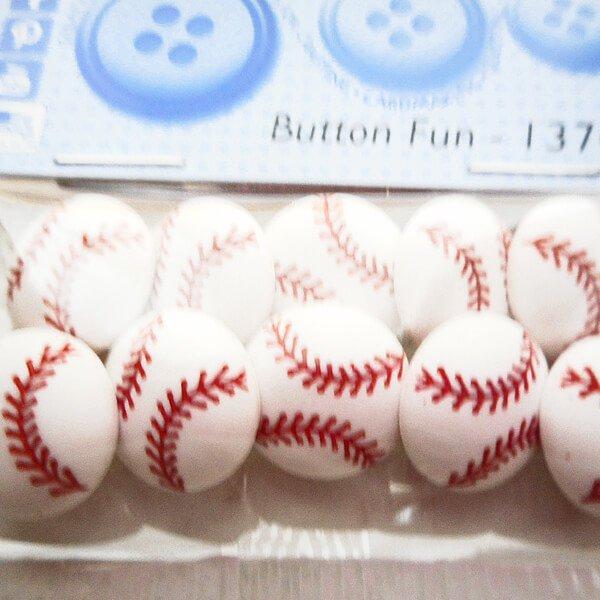 野球のクラフトボタンセット Ver2 (野球のボール)【画像3】