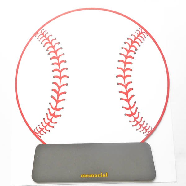 野球ボールのメモリアル色紙