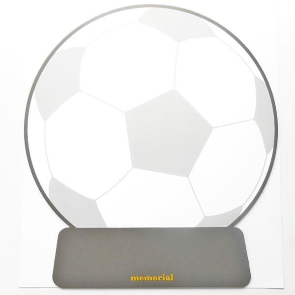 サッカーボールのメモリアル色紙