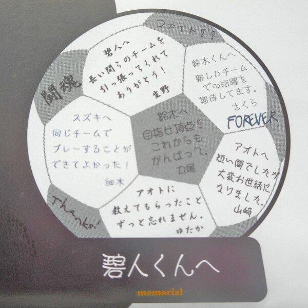 サッカーボールのメモリアル色紙【画像2】