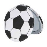 サッカーボールグッズ・雑貨 サークルコンパクトミラー オリジナルサッカーボール型