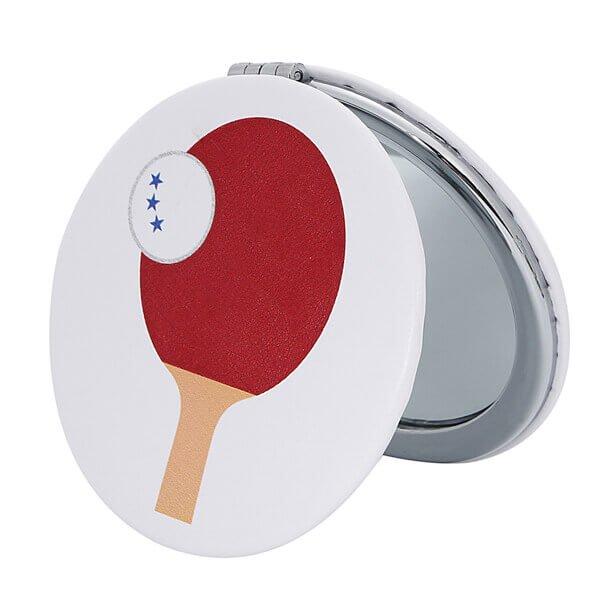 サークルコンパクトミラー オリジナル卓球柄