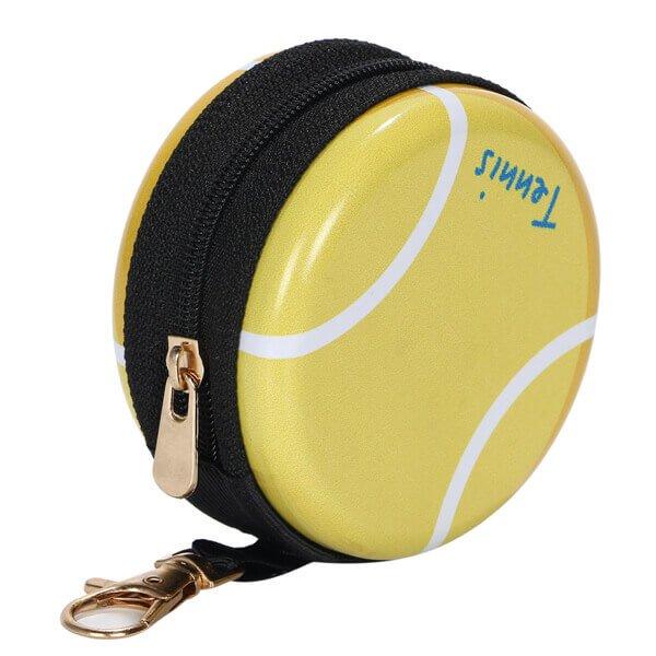フック付マルチミニ缶ケース(小物入れ) オリジナルテニスボール型