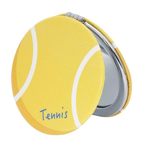 サークルコンパクトミラー オリジナルテニスボール型
