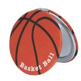 サークルコンパクトミラー オリジナルバスケットボール柄