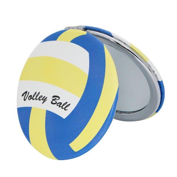 サークルコンパクトミラー オリジナルバレーボール型(カラフル)