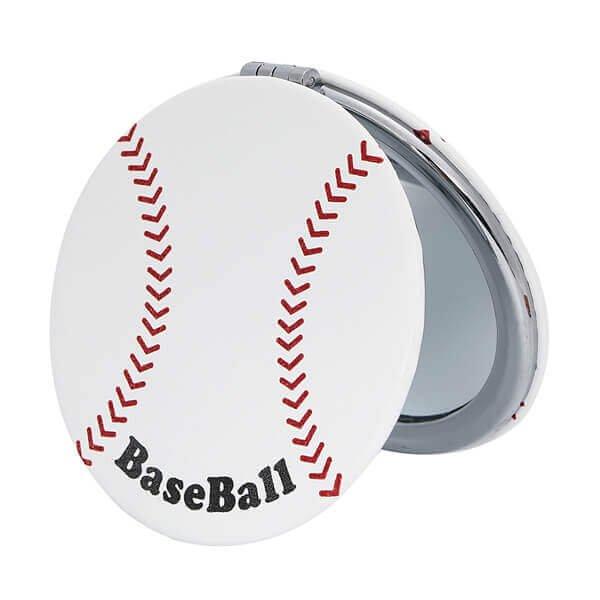 サークルコンパクトミラー オリジナル野球ボール型