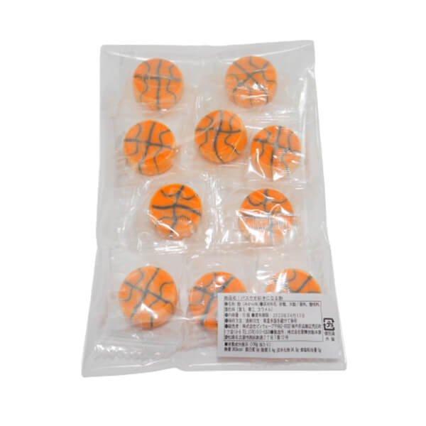 バスケが好きになる飴 (バスケットボール型 10個入り)【画像2】