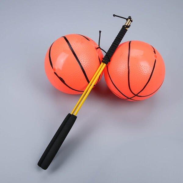 意外とおもしろいフィットネスグッズらしいおもちゃ  バスケットボールタイプ 2セット【画像5】