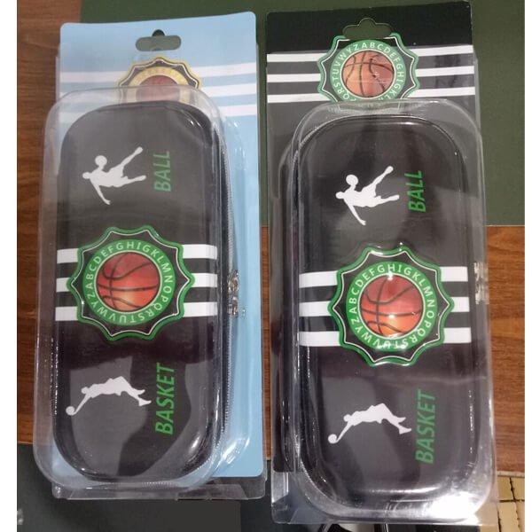 (初期汚れ・キズあり 割引販売) カッコいいバスケットボール柄のブラックペンケース【画像9】