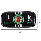 (初期汚れ・キズあり 割引販売) カッコいいバスケットボール柄のブラックペンケース