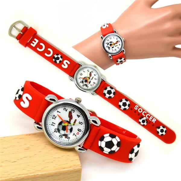 サッカーボール柄のキッズカラフル腕時計 1本【画像3】