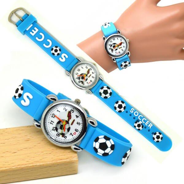 サッカーボール柄のキッズカラフル腕時計 1本【画像4】