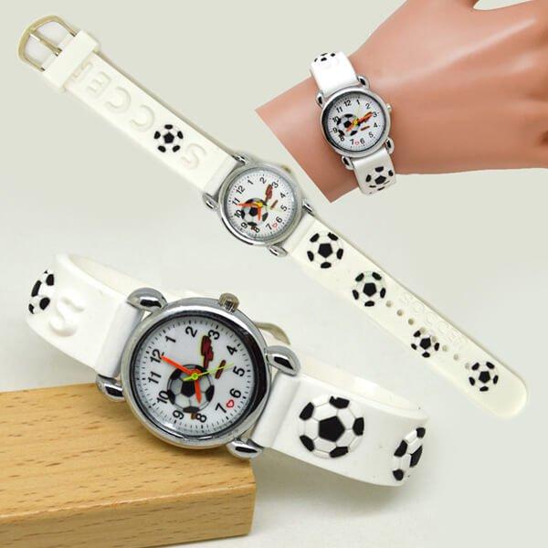 サッカーボール柄のキッズカラフル腕時計 1本【画像5】