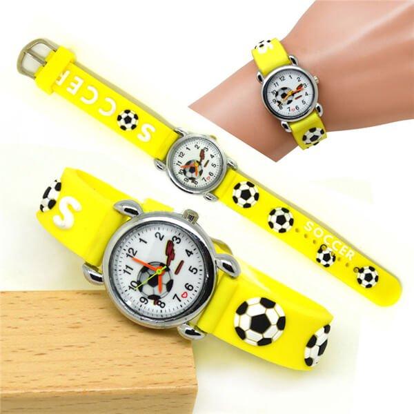 サッカーボール柄のキッズカラフル腕時計 1本【画像6】